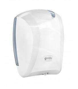 GRITE Popierinių rankšluosčių/Tualetinio popieriaus dozatorius BALTAS, MINI Centrefeed
